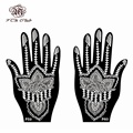 6 Pair New Henna Tattoo Stencil Template,Left Right Large Hand Tattoo Stencil Mehndi Henna Glitter Airbrush Designs Stencils