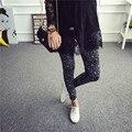 New Fashion Elastic Stretch Leggings for Female Colored Multi Graffiti Slim Fit Skinny Personalized Fitness Leggings Women