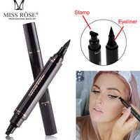 Fräulein Rose Eyeliner Stempel Auge Bleistift 2 In 1 Doppel Kopf Bleistift Für Augen Liquid Eyeliner Wasserdicht Natürlich Für Auge schatten Make-Up