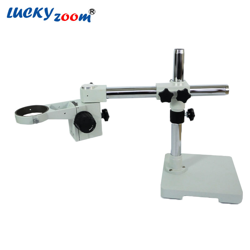 Lucky Zoom Brand Single Boom Stand , Microscope Stand with Focus Arm STL1+A1 Microscope Accessories Free Shipping  lucky zoom brand strong darticulating arm pillar clamp stand for stereo microscopes microscope accessories free shipping