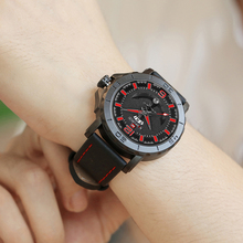 2018 New Top Luxury Brand Naviforce Leather Strap Sports Watches Men Quartz Clock Sports Military Wrist Watch Relogio masculino