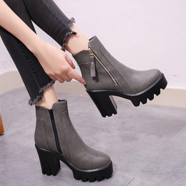 af763e3c565 SLHJC-Women-Boots-High-Heels-Leather-Platform-Ankle-Length-Boot -Side-Zipper-Chunky-Heel-Comfort-Autumn.jpg 640x640.jpg