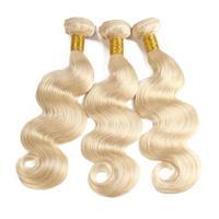 613 Human Hair Bundles Blonde Bundles 8 30 32Inch LONG HAIR Bundles Body Wave 1/3/4 Bundles Free Shipping