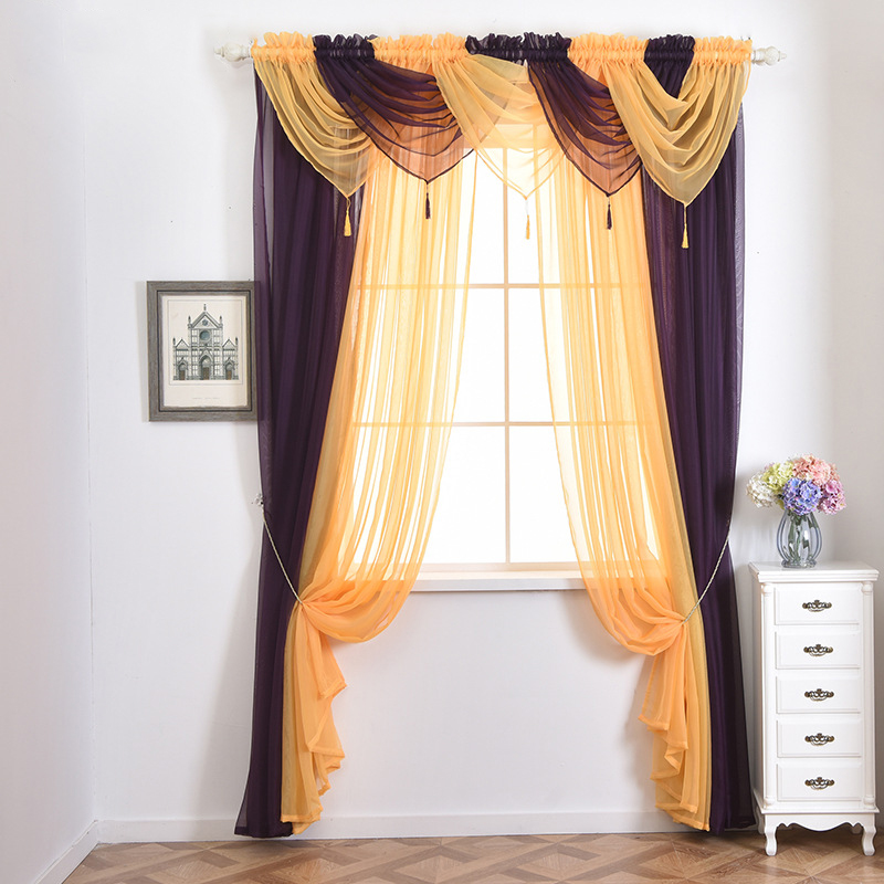 Kitchen Curtain Pelmets: Modern Valance Tulle Pelmet Curtains For Kitchen Drapes