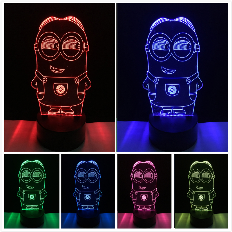 Novelty 3D Minions Night Light LED Table Lamp Touch Desk Lighting Colorful For Child Baby Gift Birthday Party Bedroom Home Deco greg  filbeck alternative investments
