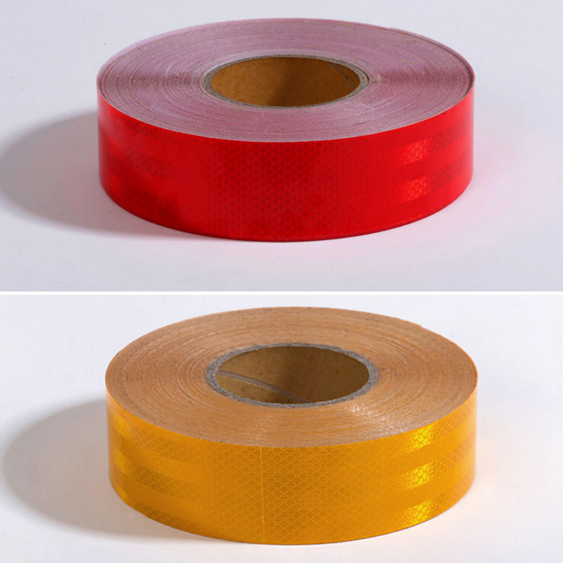 50mm X 25m Reflective Bicycle Stickers Adhesive Tape For Bike Safety White Red Yellow Reflective Bike Stickers