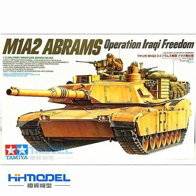 1/35 35269 M1A2 ABRAMS Operation Iraqi Freedom Battle Tank Model