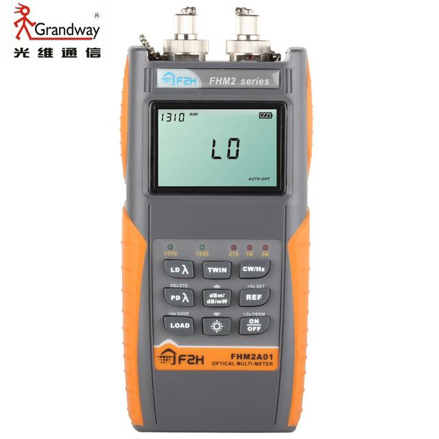 Gratis Grandway llevó FHM2A01 fibra óptica multímetro medidor de potencia óptica fuente de luz óptica 1310 / 1550nm