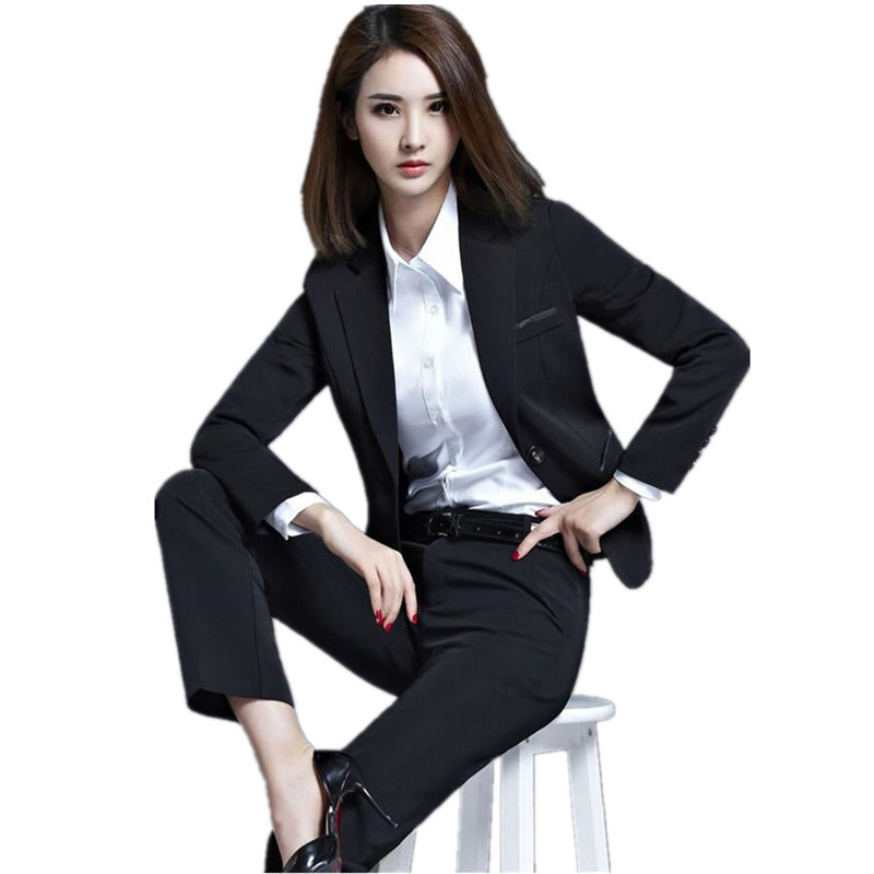 OL business attire womens suit long sleeve cultivate ones morality business interview suit women formal suit