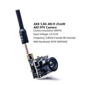 Image 2 - AKK BS2 5.8G 48CH 25mW VTX 600TVL 1/3 Cmos AIO FPV Camera with Dipole Brass Antenna Combo For FPV Quadcopter drone