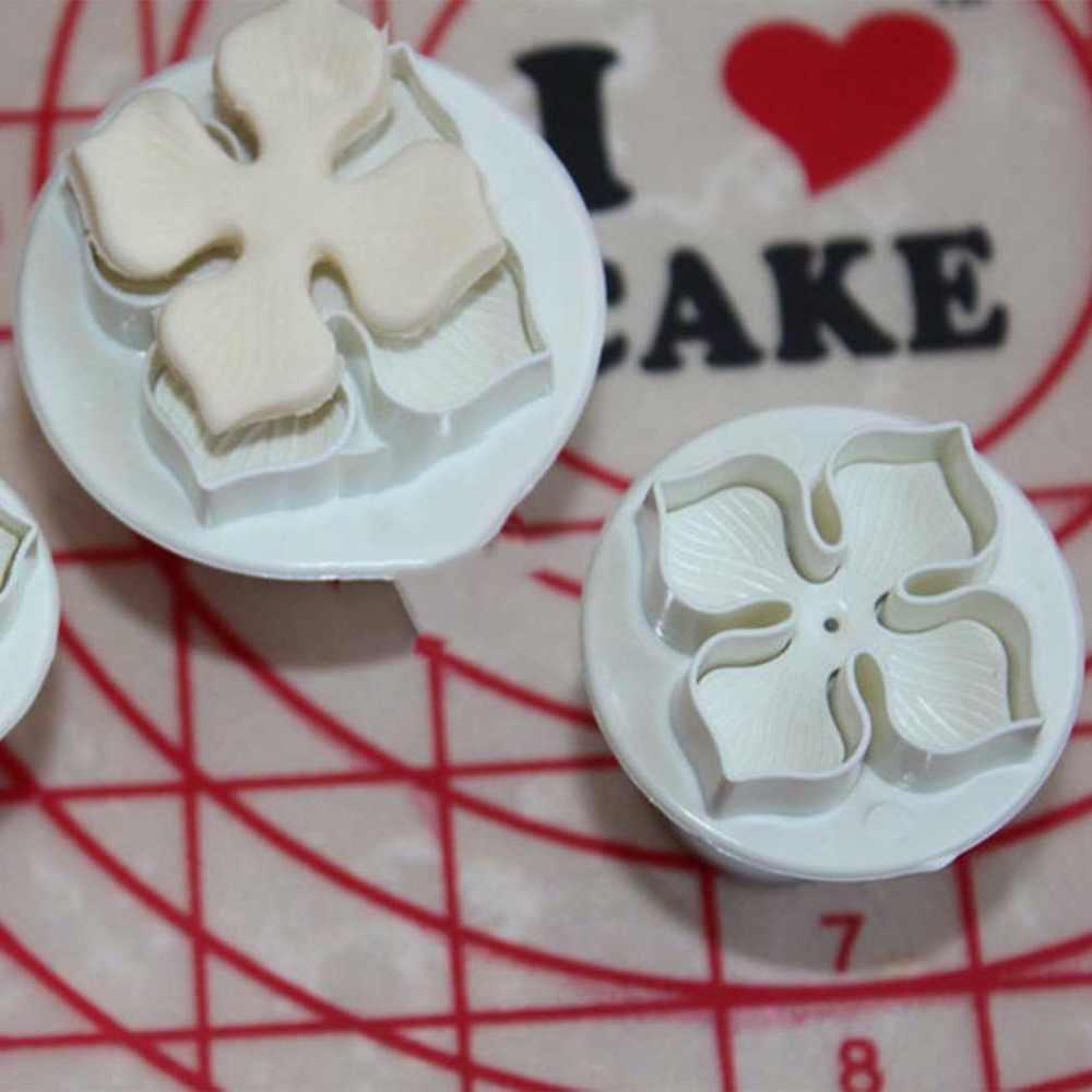 3 יח'\סט סיליקון הידראנגאה יצק עוגת קישוט SugarCraft טובל קאטר פרח פריחת עובש בית מטבח לאפות כלי