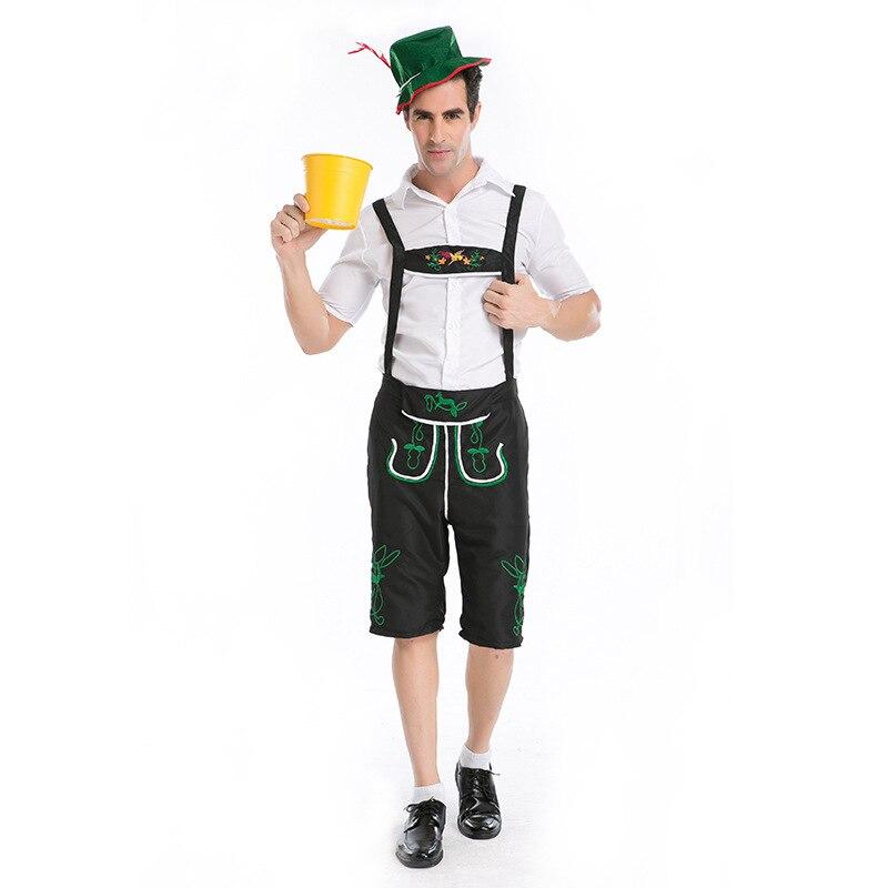 Mens Lederhosen Oktoberfest Outfit Bavarian Beer Guy German Fancy Dress Costume
