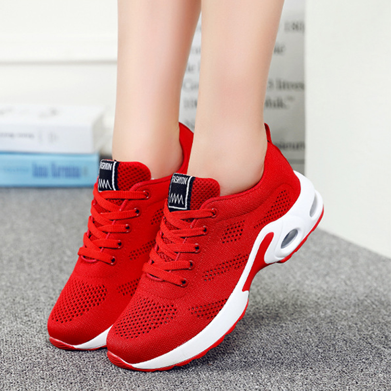 Breathable Summer Women Vulcanize Shoes Lace Up Climbing Sneakers Female Casual Fashion Ladies Shoes Walking Footwear KBT1010
