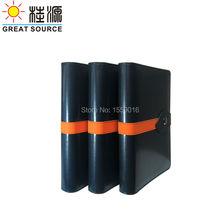 Планировщик блокнот связующее кольцо бумажный кожаный чехол с электронный календарь и ручка сумка цветные наклейки Мягкая линейка Gfit набор