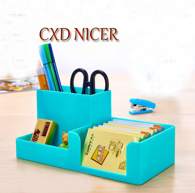 Candy Six-Color Selection Pencil Holder Stand For Pens Office Accessories Desk Organizer Container Stationary Store