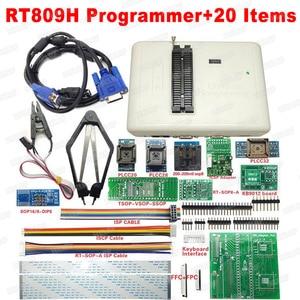 Image 3 - 100% Original RT809H EMMC Nand FLASH  Programmer +55 Items with BGA48 BGA63 BGA64 BGA169 Adapter RT809H EMMC Nand Flash TSOP48