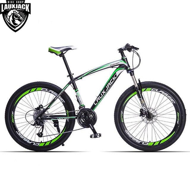 """LAUXJACK Горный велосипед стальная рама 24 скорости Shimano механические дисковые тормоза 26"""" колеса"""