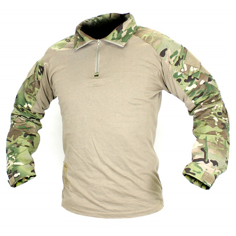 CQC Military Tactical Shirt Gen2 Long Sleeve Men Hunting Paintball Airsoft Army BDU Combat Shirt With Elbow Pads Multicam