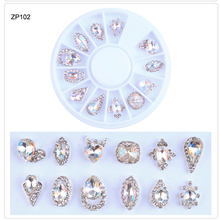 3D Nail Diamond Glitter Wheel Decoration 12 Designs Tips Diamonds Rhinestone For Diy Manicure Art Tools &M