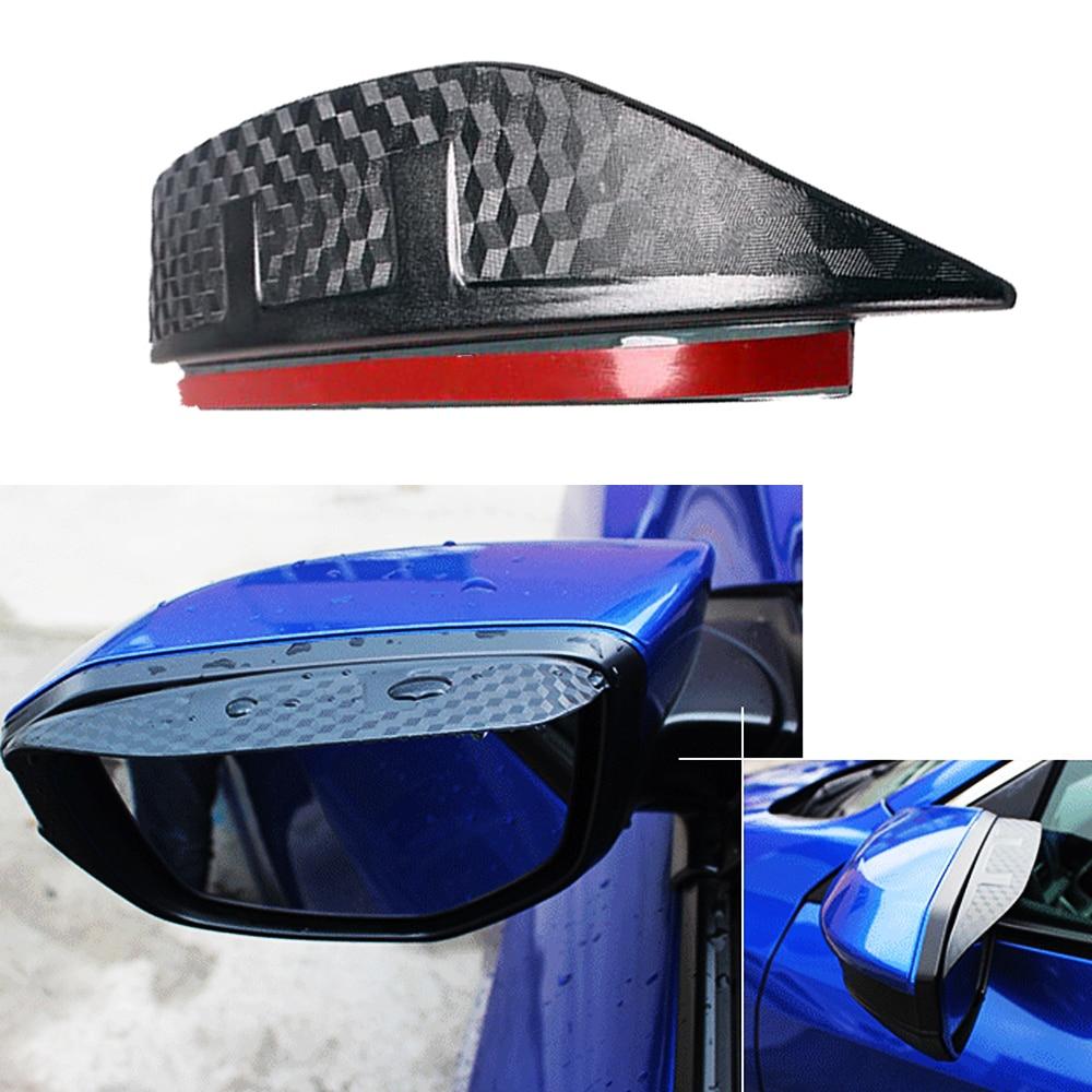 2x Blue Stainless  Rearview Side Mirror Trim for Toyota LandCruiser Prado 10-18