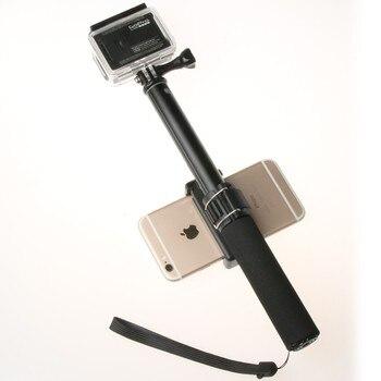Self Selfie Stick Handheld Extendable Pole Monopod Phone Holder Adapter for Go Pro HERO 8 7 6 5 4 Xiaomi YI 4K Lite SJCAM SJ5000 2
