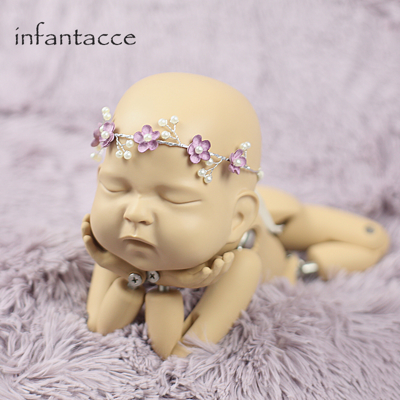 Opaska niemowlęca, Opaski dla noworodka, Flower Girl, Niemowlę, - Odzież dla niemowląt - Zdjęcie 3