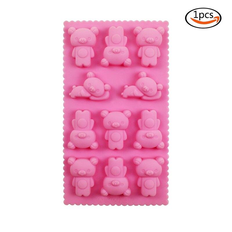 10Psc rosa de silicona taza del mollete Galletas Molde Para Pastel Decoración Suministros de pastel