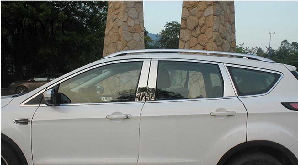 WMYFC SIDE DOOR BOTTOM WINDOW SILL TRIM COVER FOR FORD ESCAPE KUGA 2013 2014 2015 2016 2017 2018 MOLDING GARNISH STRIP LINE