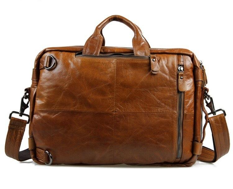 Nesitu Zwart Bruin Koffie Echt Leder Mannen Briefcase Portfolio Business Travel Schouder Messenger Bags Hoge Kwaliteit M7014-in Aktetassen van Bagage & Tassen op  Groep 2
