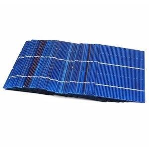 Image 4 - 50 pièces/lot 78*52mm 0.66W panneau solaire Mini système solaire bricolage batterie téléphone chargeur Portable cellule solaire Sunpower peinture charge