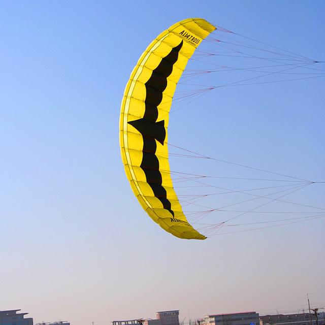 Envío de la alta calidad 5 metros cuadrados quad línea eléctrica línea parafoil kite kitesurf con barra de control kitesurf hcxkite