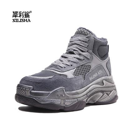 Chaussures 2 Nouvelle 1 Occasionnel De Harajuku Version Ulzzang Coréenne Sauvage Plus Velours Le 2018 Coton Twx64gq7x