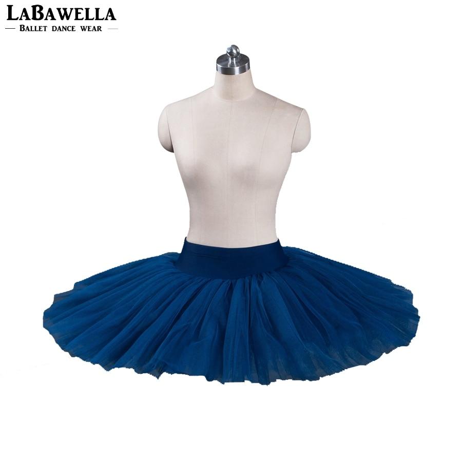 navy blue practicing costume child classical half ballet tutu