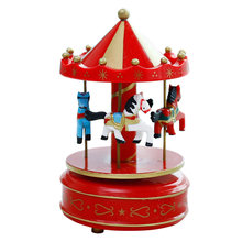 Romantic Carousel Horse Music Box Toy Artistic Wooden Carousel Music Boxes LAD-sale(China)