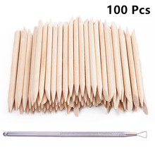 100pcs/set 50pcs/set Women Lady Double End Nail Art Wood Stick Cuticle Pusher Remover Pedicure Professional Nail Art Tool Set цены онлайн