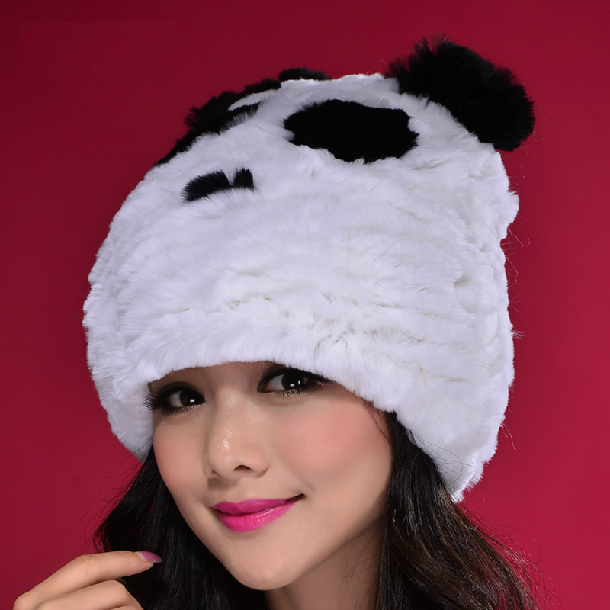 2017 Men's And Women's Fashion Autumn Korean Cute Rabbit Hair Parent-child Adult Panda Ears Fur Hat Children's Hat
