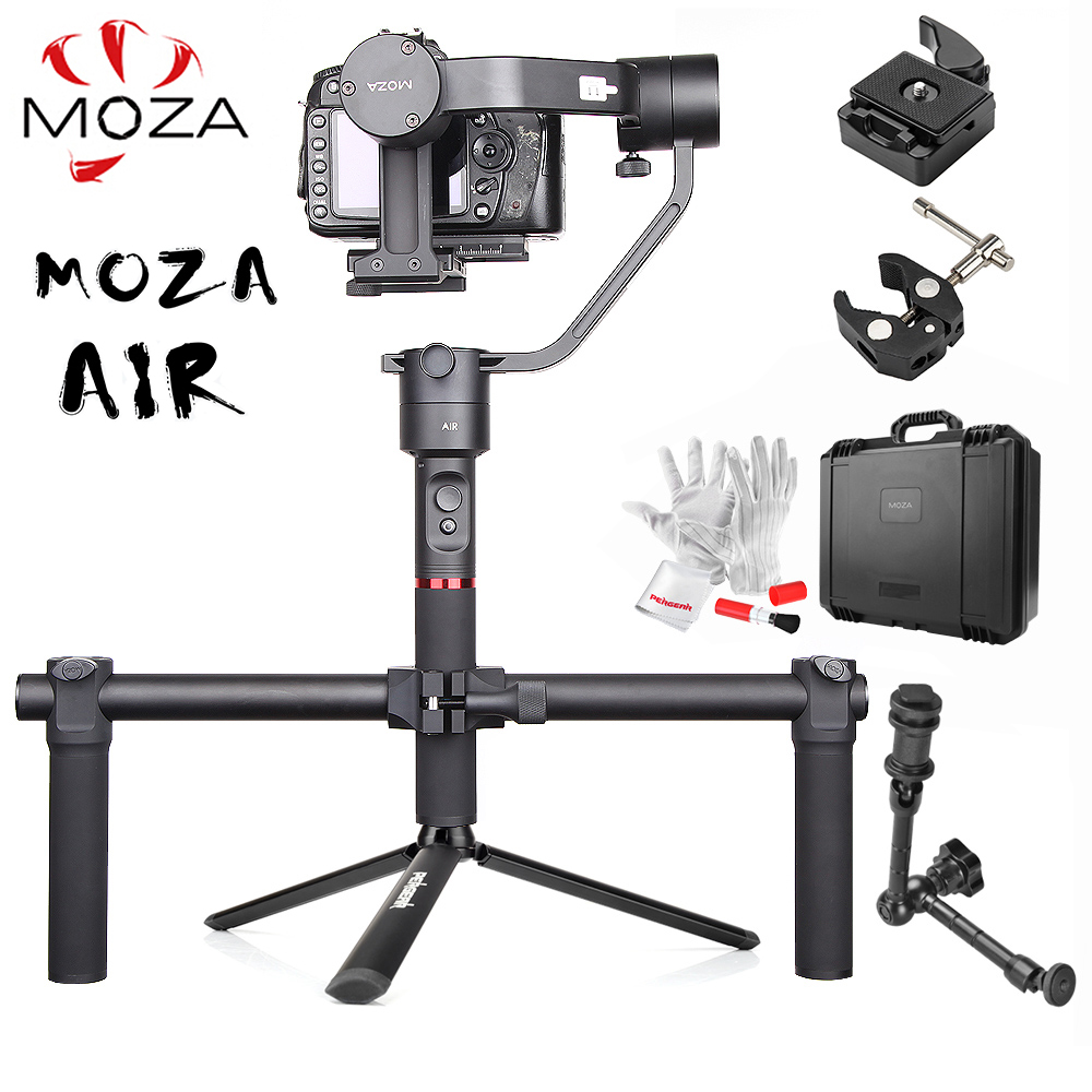MOZA Air 3-Axis Handheld Gimbal Stabilizer w/ Dual Handheld Grip Magic Arm 360 Unlimited Rotation for Sony A7 GH5 GH4 PK Zhiyun