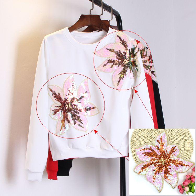 2 kusy Módní květiny Velké špendlíky Výšivky pro oblečení - Umění, řemesla a šití