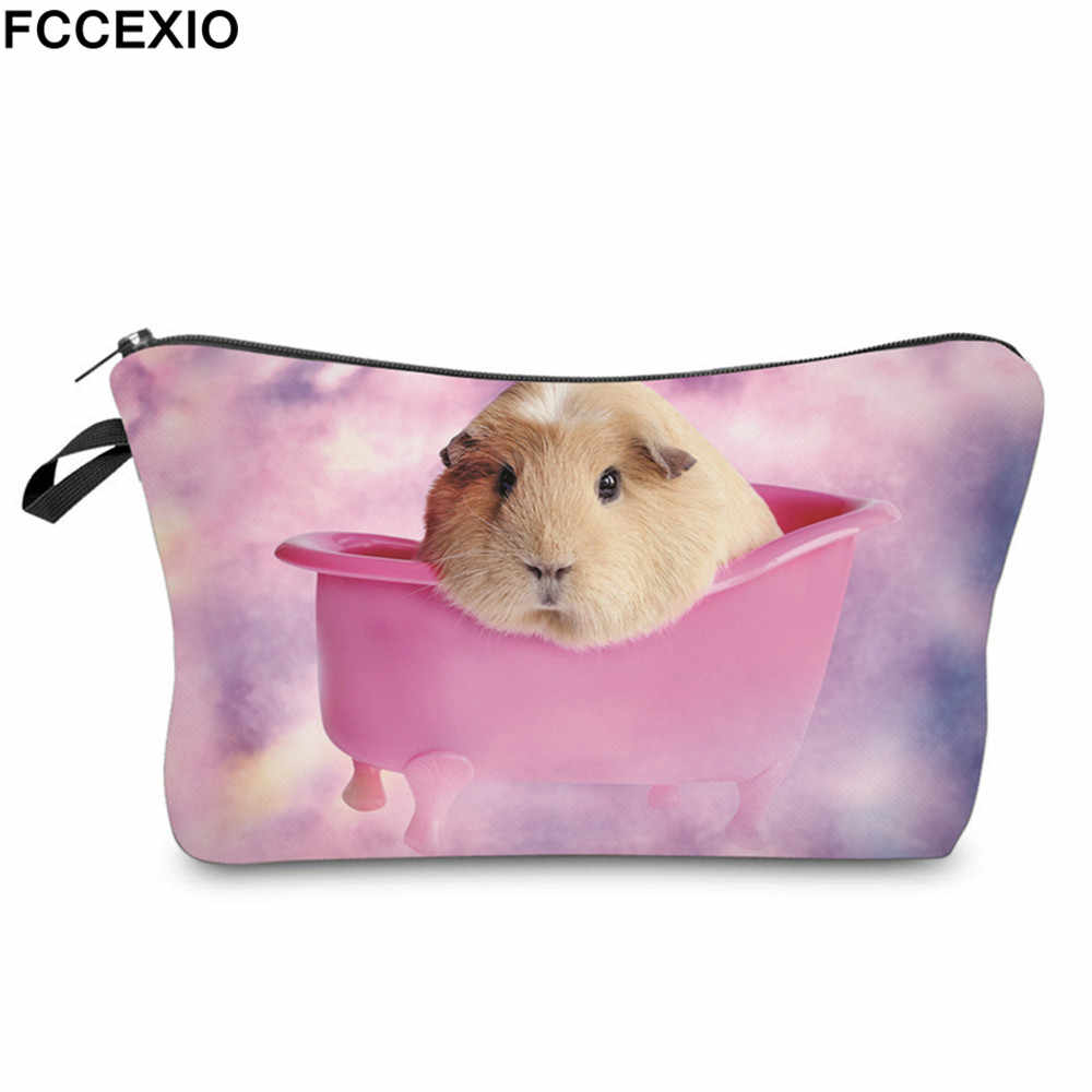 b26ab7e705b8 FCCEXIO 3D Print A hamster Cosmetic Bag Multicolor Pattern Cute ...