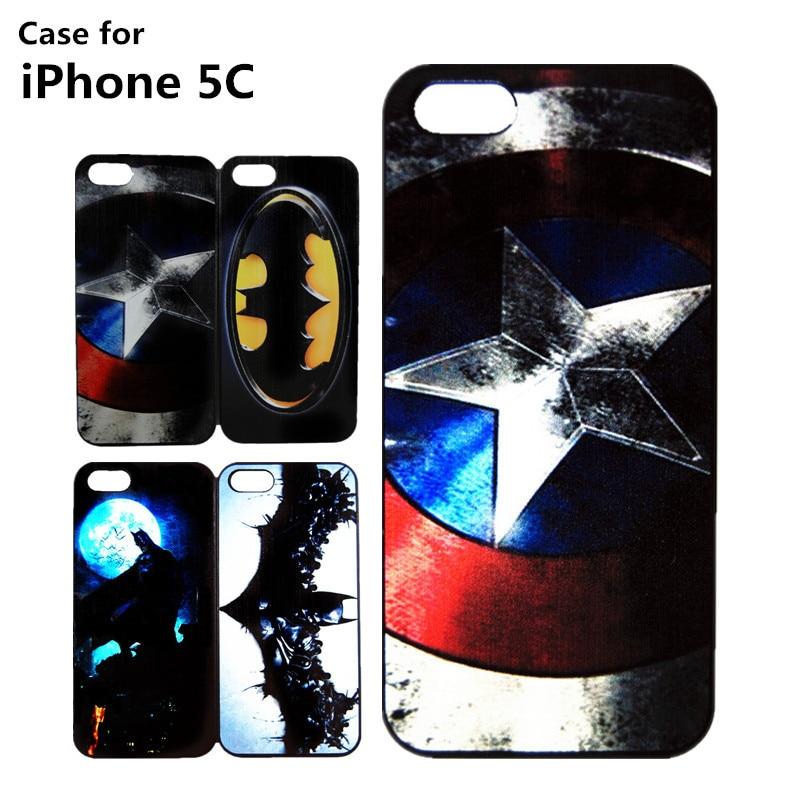 Clearance Cases Apple iPhone 5C Cover Hard Superman Batman Captain American Case Fundas Capa - Best-Elec store