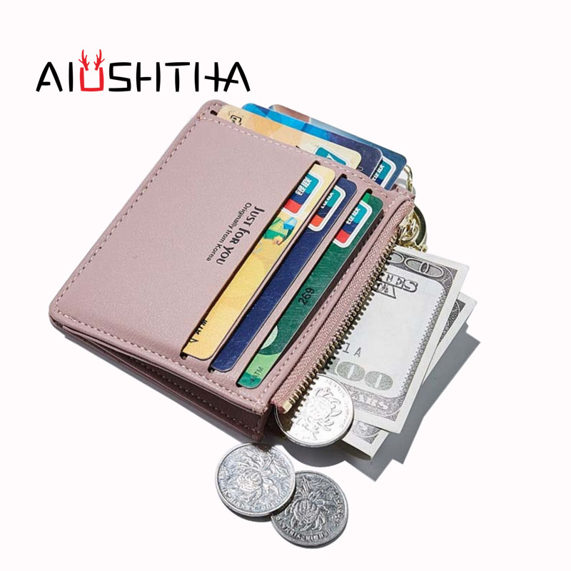 card holder women bank credit cards wallet business case id organizer cardholder porte carte carteira masculina coin purses lady baellerry double zipper women business card holder wallet oil wax leather purse female name bank credit cards driver license bag