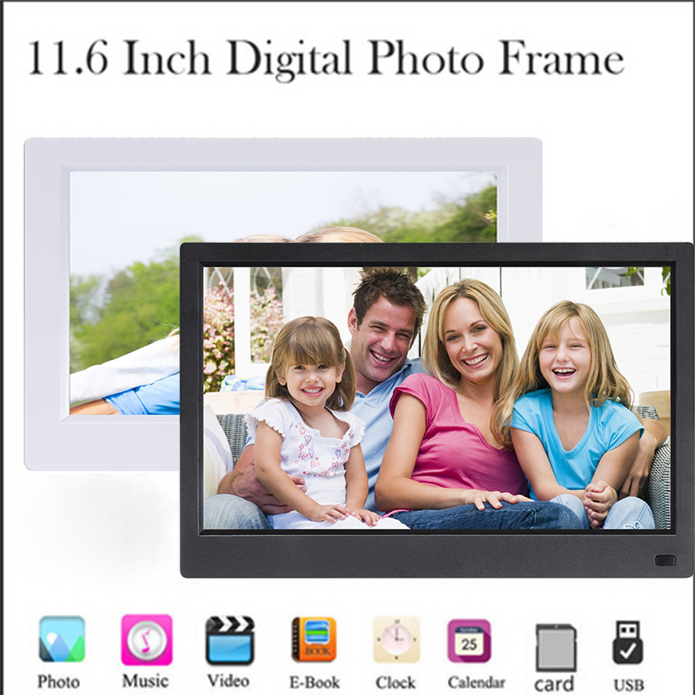 цена на 11.6-Inch Front Screen Button High-Definition Screen Digital Photo Frame O.26