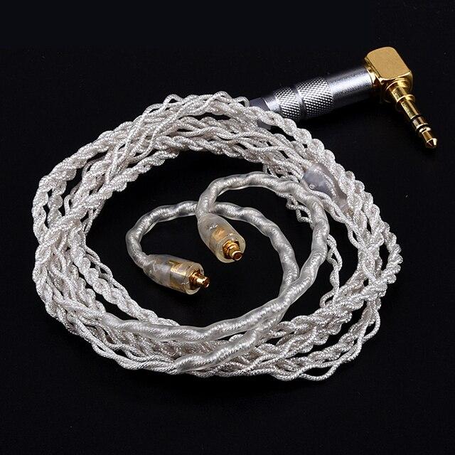 Oyaide Metal Plug Silver Platinum Wire Soft Earphone Cable for Shure SE215 SE315 SE425 SE535 SE846 UE900