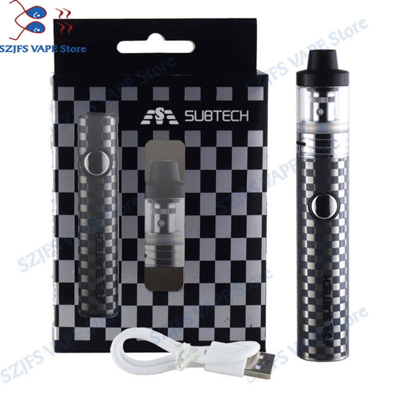 S22 60W E-cigarettes Vape Mod 1800mah Battery With 2.5ml Atomizer 0.3/ 0.5 Ohm Tank Vape Pen Electronic Cigarette Kit Avid Lyfe