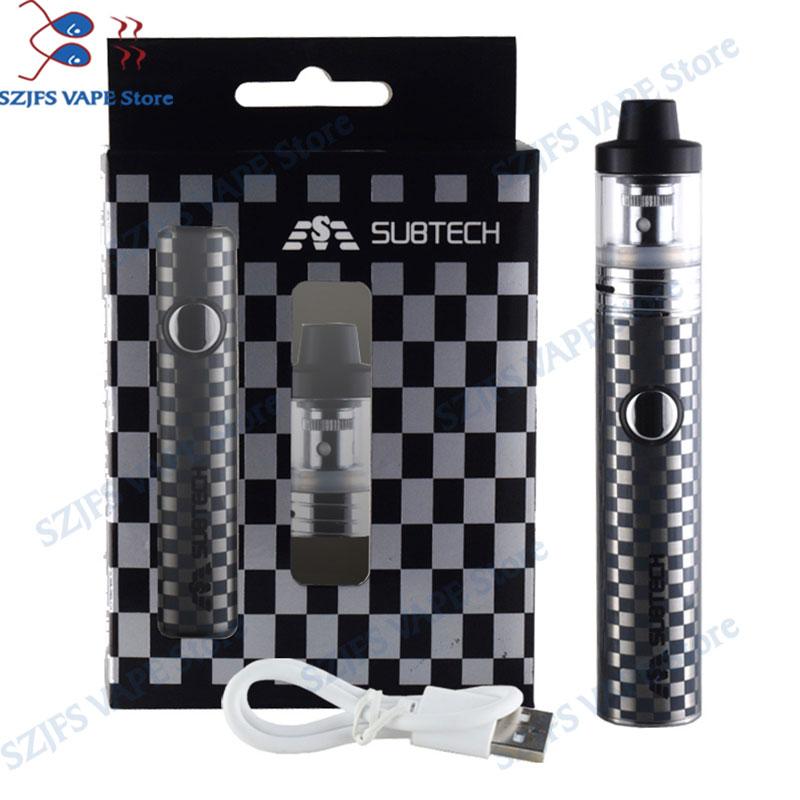 S22 60W E-cigarettes Vape Mod 1800mah Battery With 2.5ml Atomizer 0.3/ 0.5 Ohm Tank Vape Pen Electronic Cigarette Kit Avid Lyfe