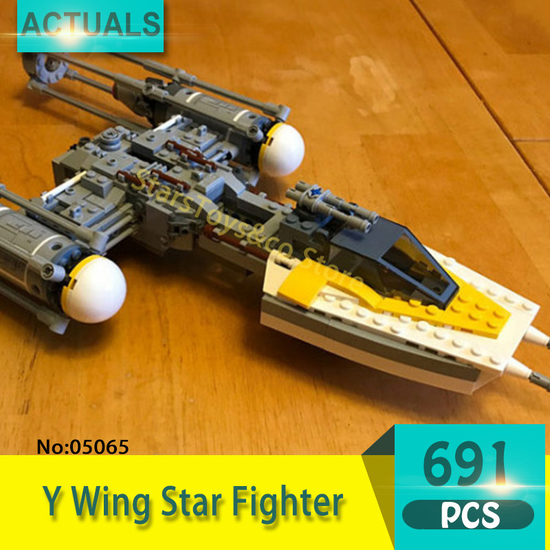 05065 691Pcs Y Wing Star Fighter Model Building Blocks Set  Bricks toys For Children Gift 75172 Star Series Wars 2015 high quality spaceship building blocks compatible with lego star war ship fighter scale model bricks toys christmas gift
