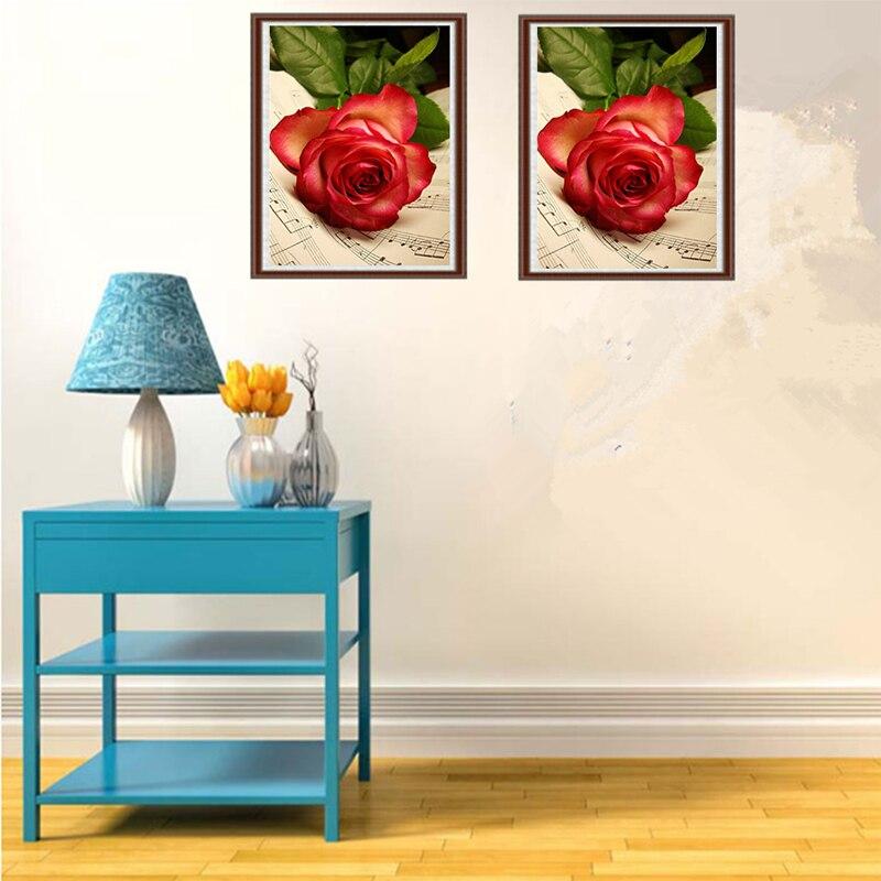 Алмаз живопись DIY Kit Kid Игрушка книга Роза Цветок Цветочные Детские гостиной столовой дома отель офис магазина деко