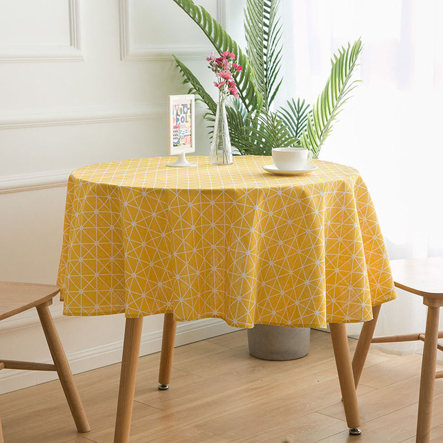Nodic Print Round Tablecloth Dining Table Cover Obrus Tafelkleed Cotton Table Cloth Wedding Party Banquet Hotel Home Decoration