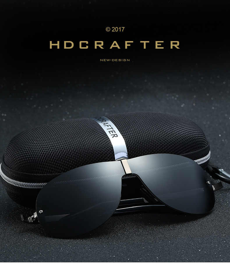 07d1e3c503 ... Mens Goggle Polarized Sunglasses Vintage Men Designer Conjoined  Spectacle Lens Super Frame Uv400 Rimless Sunglasses Cool ...