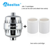 2pcs Lot Brand New Bathroom Shower Filter Small Style Bathing Water Purifier Health Softener Chlorine Removal
